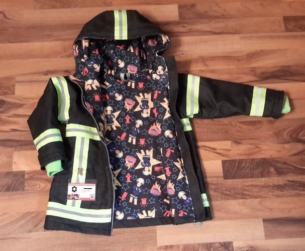 Makerist - Feuerwehr - Jacke für den Übergang Gr. 122 - Nähprojekte - 1