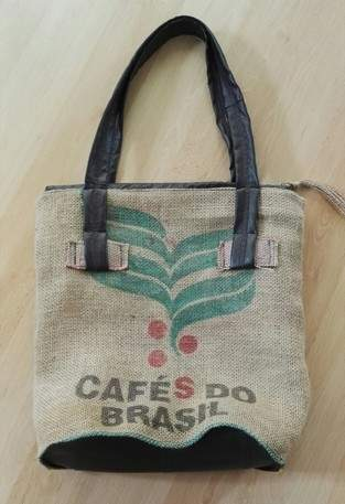 Upcyclingprojekt Tasche aus Kaffeesack