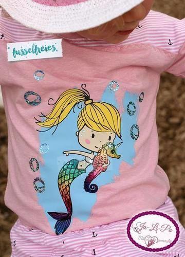 Makerist - Meerjungfrau und Wassermann - Nähprojekte - 1