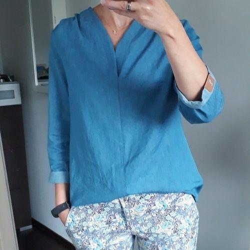 Makerist - Bluse Bellah aus Jeans  - Nähprojekte - 1