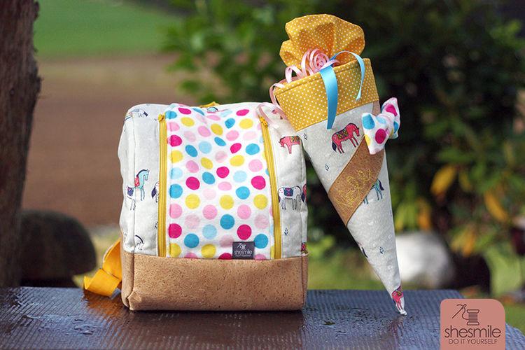 Makerist - Schultüte und KlapPack zum ersten KiTa-Tag :) - Nähprojekte - 2
