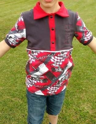 Makerist - Kragenshirt/Poloshirt Paul von Petit et Jolie Design für meinen Sohn aus Rennfahrer-Jersey - 1