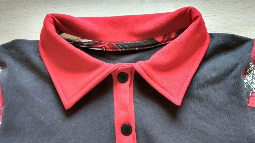 Makerist - Kragenshirt/Poloshirt Paul von Petit et Jolie Design für meinen Sohn aus Rennfahrer-Jersey - Nähprojekte - 3