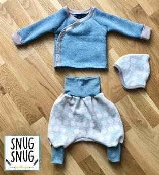 Makerist - Neugeborenenset mit Wickeljäckchen, Pumphose und Wendezipfelmütze - 1