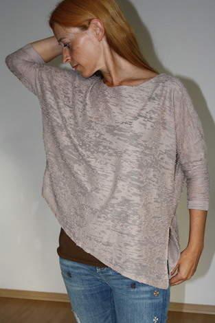 Oversize-Shirt Juliene aus Ausbrenner-Strick
