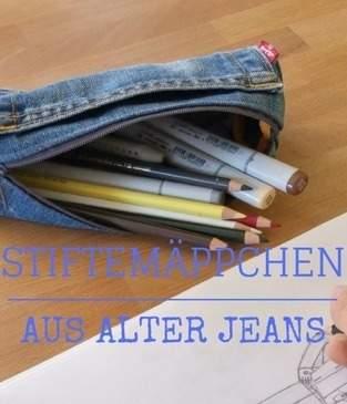 Schlampermäppchen aus alter Jeans