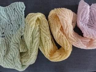 Makerist - Brioche Schal im Blattmuster - 1