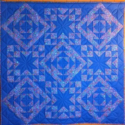 Makerist - Geometrie in Azurblau  - Patchwork-Projekte - 1