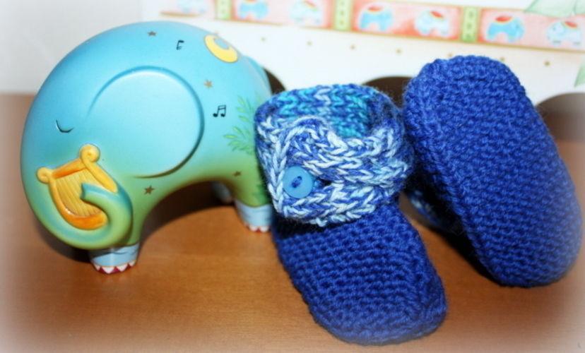 Makerist - Babyschuhe mit Zopf - Strickprojekte - 2