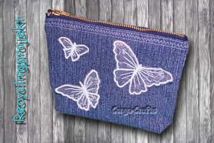 Tasche mit Reißverschluss aus alter Jeans nähen - Recycling DIY