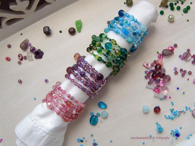 Makerist - Serviettenringe aus Glasperlen - DIY-Projekte - 1