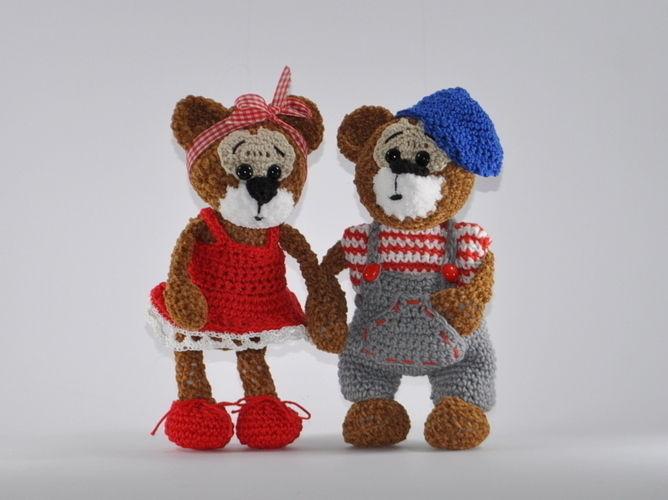 Makerist - Bertha und Bruno - ein Bärenpaar - Häkelprojekte - 1