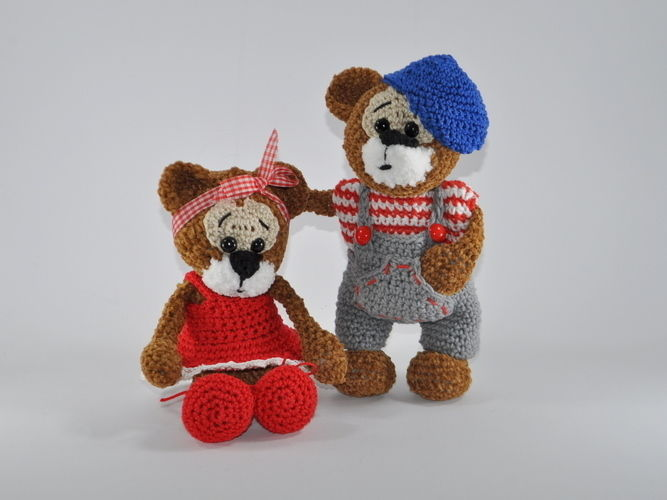 Makerist - Bertha und Bruno - ein Bärenpaar - Häkelprojekte - 3