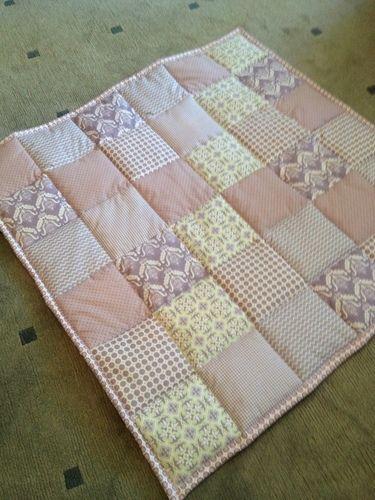 Makerist - Babykrabbeldecke - Geschenk zur Taufe - für eine Freundin - Patchwork-Projekte - 1