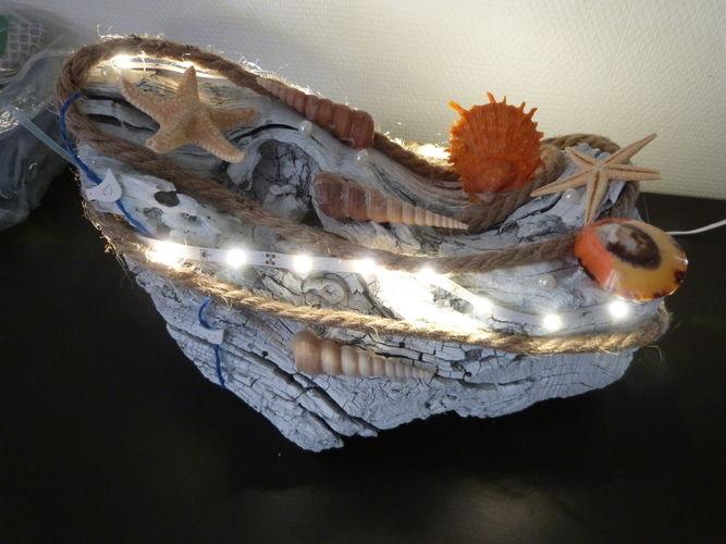 """Makerist - Lampe """"thème plage"""" - Autres créations - 1"""