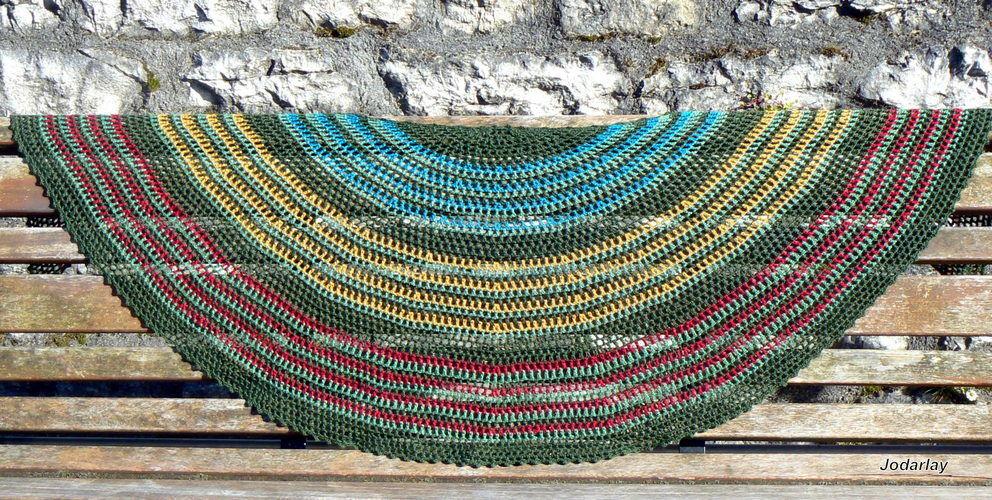 Makerist - Pépé, un châle au crochet à porter tout l'année - Créations de crochet - 2