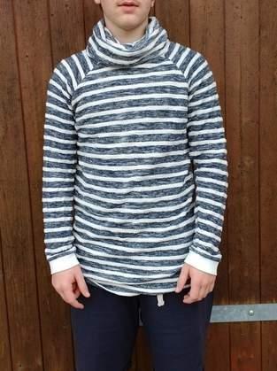 Makerist - Hoodie Himmlischer Vince für einen Teenie aus Doubleface Strick in maritimen Streifen - 1