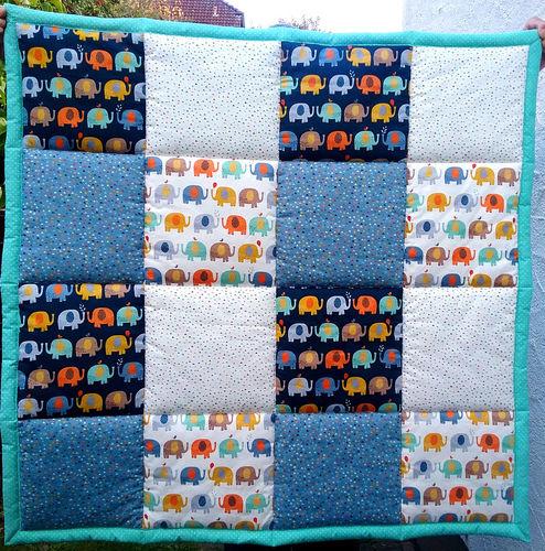 Makerist - Babykrabbeldecke - Patchwork-Projekte - 3