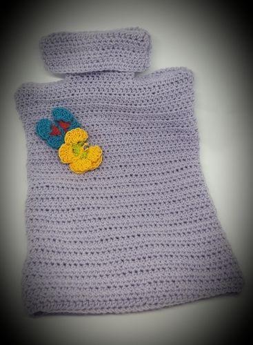 Makerist - Cosy hot water bottle cover et papillon - Créations de crochet - 1