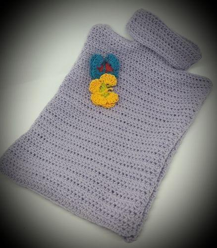 Makerist - Cosy hot water bottle cover et papillon - Créations de crochet - 2