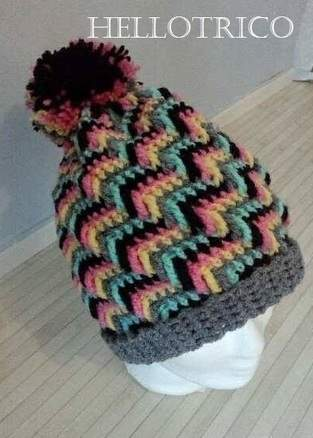BONNETS AU CROCHET POINT APACHE