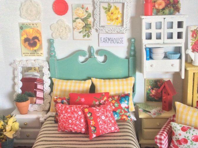 Makerist - Vintage Look Miniature Dollhouse Bedding - Sewing Showcase - 1