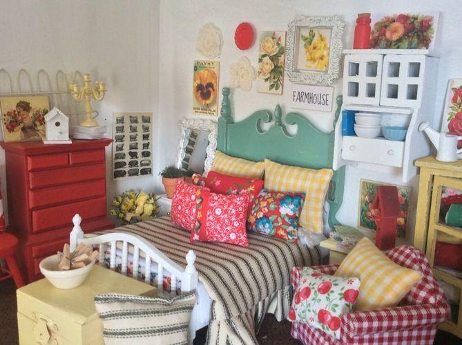 Makerist - Vintage Look Miniature Dollhouse Bedding - Sewing Showcase - 2