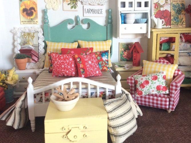 Makerist - Vintage Look Miniature Dollhouse Bedding - Sewing Showcase - 3