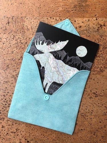 Makerist - Briefumschlag aus Stoff für Hochzeitskarte - Nähprojekte - 1