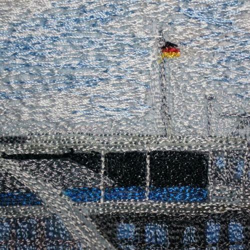 Makerist - Nähgemalter Miniquilt - Textilgestaltung - 3