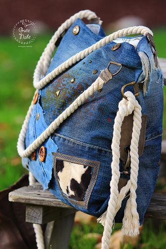 Makerist - Upcycling extrem - Casual Bag aus Jeans für die urbane Frau ;-) - Nähprojekte - 1