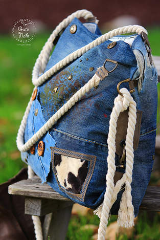 Upcycling extrem - Casual Bag aus Jeans für die urbane Frau ;-)