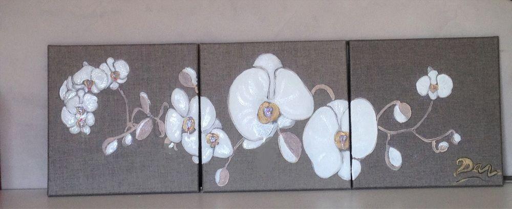 Makerist - triptyque orchidées - Autres créations - 1
