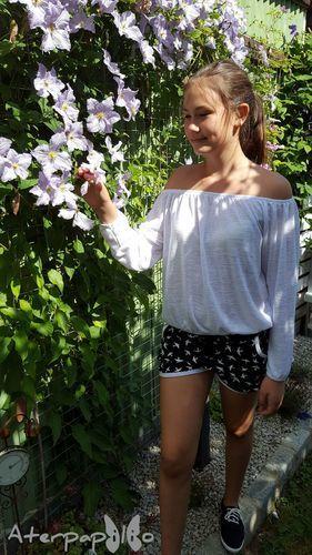 Makerist - sommerliche Shorty Legs für meine Große - Nähprojekte - 2