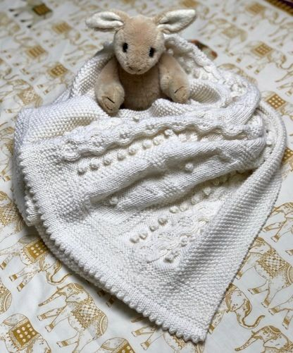 Makerist - Bobble Bunny Baby Blanket - Knitting Showcase - 2