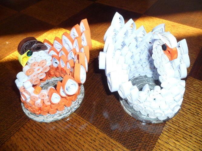 Makerist - Quilling - Oiseau orange et blanc - Autres créations - 3