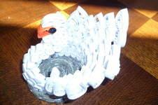 Makerist - Quilling - Cygne blanc - 1