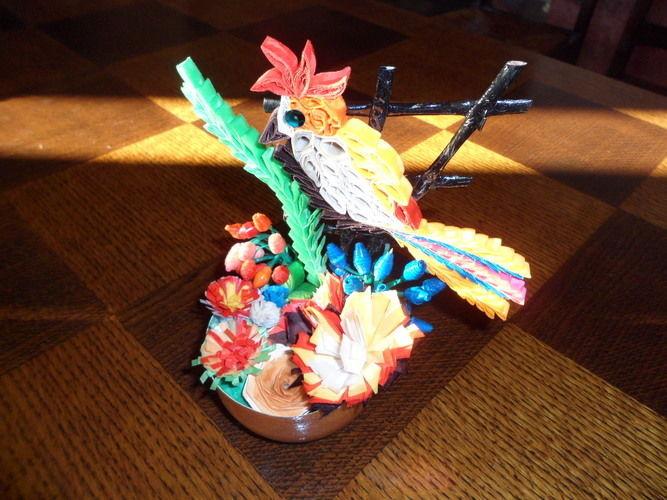 Makerist - Quilling - Oiseau Pie-vert - Autres créations - 1