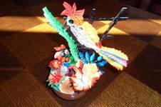 Makerist - Quilling - Oiseau Pie-vert - 1