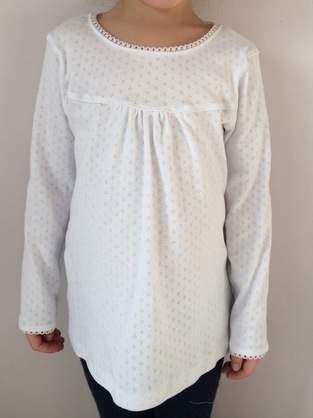 Weißes Girly-Shirt mit Spitze