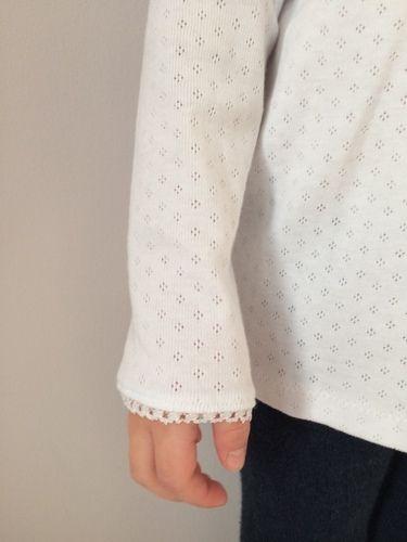 Makerist - Weißes Girly-Shirt mit Spitze - Nähprojekte - 3