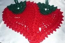 "Makerist - Topflappen ""Erdbeere"" - 1"