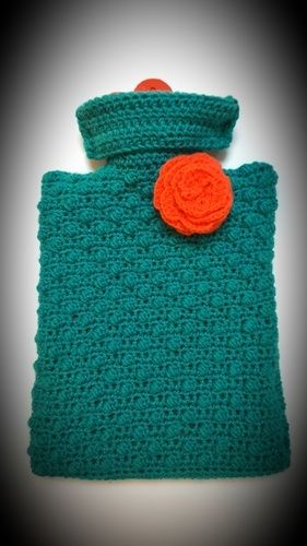 Makerist - cosy hot water bottle cover - Créations de crochet - 1