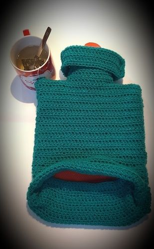 Makerist - cosy hot water bottle cover - Créations de crochet - 3