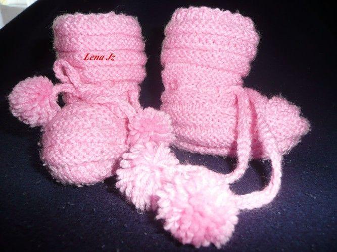 Makerist - Babyschühchen in Rosa - Strickprojekte - 1
