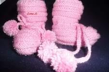 Makerist - Babyschühchen in Rosa - 1
