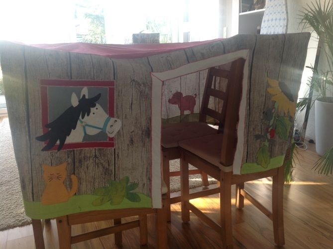 Makerist - Spielzelt Tischhusse für eine Kindergartengruppe  - DIY-Projekte - 2