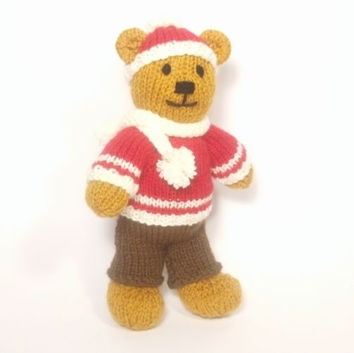Makerist - Christmas Bitsy Boy Teddy - Knitting Showcase - 1