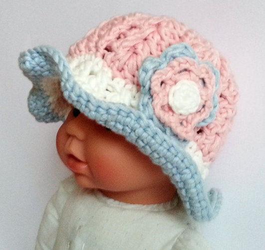 Makerist - Baby-Frühlingshut - Häkelprojekte - 2