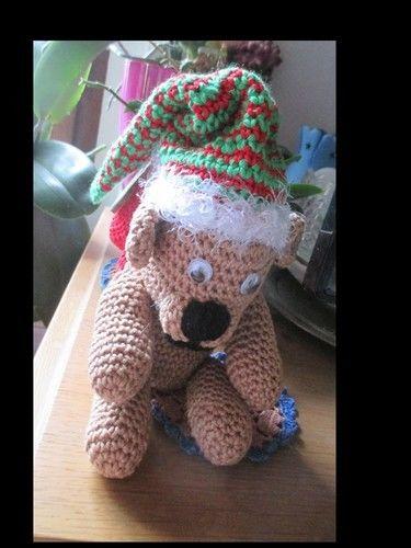 Makerist - Nikolaus mit Rucksack aus Baumwolle wird er ein Geschenk für meine Schwiegertochter. - Häkelprojekte - 1